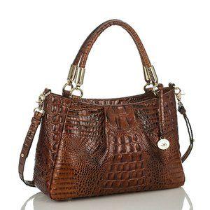 Brahmin Ruby Pecan Melbourne Bag Croc Leather NEW